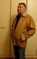 Мужская джинсовая куртка с капюшоном, куртка мужская с натуральным мехом, Санкт-Петербург