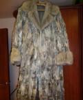 Шубка из козлика с норкой, вязаное платье с косами