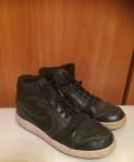 Модные черные туфли на толстом каблуке, кроссовки Nike