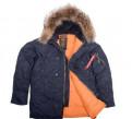Куртка мужская N-3B Slim Fit натуральный мех XL, футболка honda africa twin, Санкт-Петербург