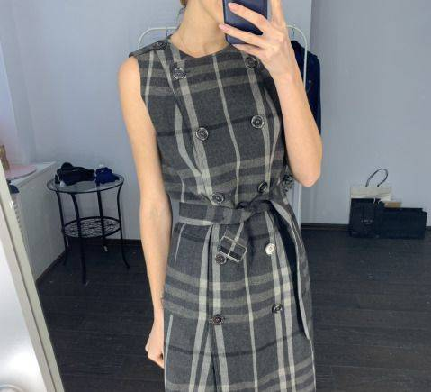 Вечерние платья от японских дизайнеров, платье шерсть оригинал Burberry