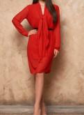 Красное платье в идеальном состоянии, купить платье для полных дам