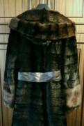 Шуба норковая черная поперечка с капюшоном 50-52, летнее платье футляр для полных