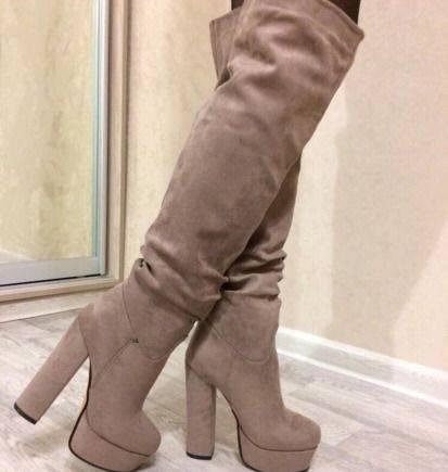1d98fa8ed Ботфорты новые евро зима, женские ботинки на платформе купить, Санкт ...