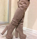 Ботфорты новые евро зима, женские ботинки на платформе купить, Санкт-Петербург