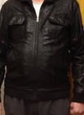 Молодежная куртка из тесненной кожи, футболка bad boy fight team, Елизаветино