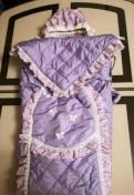 Конверт-одеяло для девочки с шапочкой