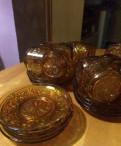 Набор чашек с тарелками(стекло), Санкт-Петербург