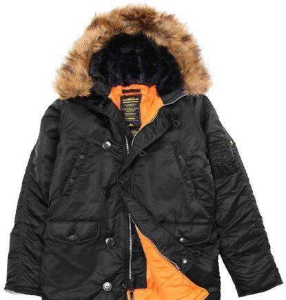 4ddefabac5aa4 Куртка nike осень, куртка аляска мужская N-3B Slim fit черная 3XL ...
