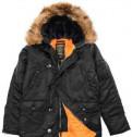Куртка nike осень, куртка аляска мужская N-3B Slim fit черная 3XL
