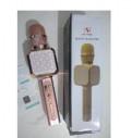 Караоке микрофон беспроводной wster YS-05 розовый