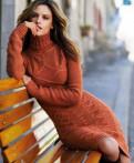 Платье крупной вязки, одежда из меха пони, Санкт-Петербург