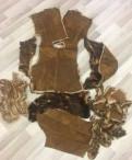 Модели платья из замши на трикотажной основе, шкурки дубленки из тосканы, Бугры