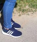 Мужские зимние сапоги на овчине, кроссовки новые adidas синего цвета, Никольское