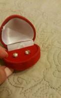 Серьги пусеты гвоздики бриллианты