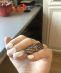 Готическое авторское кольцо серебро с камнями, Бокситогорск