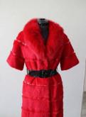 Красная шубка песец с кроликом, лыжная одежда саломон, Никольское