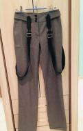 Платье рубашка в клетку черно белое, брюки Love Republic XS серые с подтяжками и ещё, Санкт-Петербург