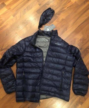 Модные кожаные пальто с мехом, eddie Bauer пуховик