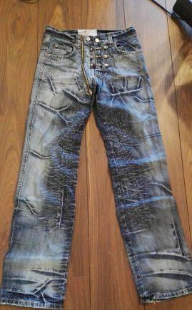 Джинсы с ботами на ширинке, мужские джинсы золла