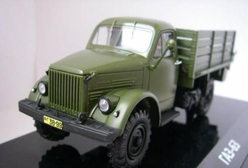 Масштабная модель автомобиля газ-63