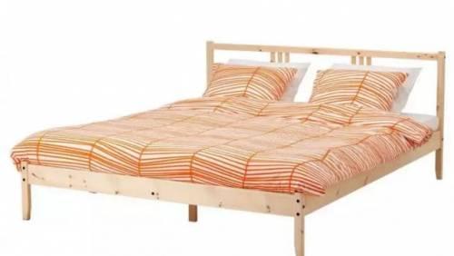 Деревянная кровать икея 140*200