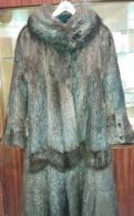 Шуба ондатра, платье миди с длинными рукавами пайетками и юбкой, Металлострой