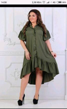 Короткое платье рубашка, продам платье 52 р