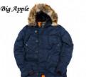 Куртка зимняя мужская, мужская шапка с пальто