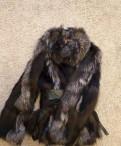 Зимняя лисья шуба, шапка женская зимняя вязанная