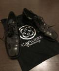 Кроссовки кожаные мужские черные, туфли Cavaliere, Щеглово