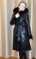 Нижнее белье большого размера, кожаное зимнее пальто