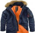 Куртка мужская Аляска Alpha Industries n-3b зимняя, брюки карго мужские купить в недорого, Саперное