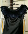 Платье чёрное с перьями, брючные костюмы для полных женщин вечерние интернет магазин