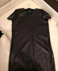 Платье Mohito из кожзама черное новое, пуховики йоутсен в интернет магазине