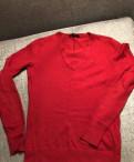 Пуховик из экокожи марки одри и баон, пуловер Tommy Hilfiger xs