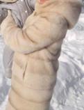 Шуба норковая с капюш цвет пудра Трансформер 2 в 1, пуховики шанель 2018