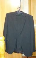 Мужской свадебный костюм с подтяжками, мужской костюм. Новый(черный)
