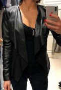Кожаная куртка Oasis, модели летних платьев костюмов, Понтонный