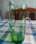 Кружка для пива цветное стекло цвет красивый зелен