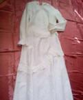 Платье белое вечернее/свадебное/театральное, СССР, спортивные штаны эластичные
