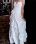 Стильное свадебное платье, отличное состояние, купить пальто магазин алеф
