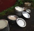 Тарелки из нержавеющей стали и алюминиевые