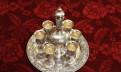 Столовое серебро Штоф с 6-ью стопками на подносе, Санкт-Петербург