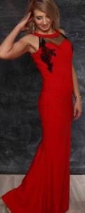 Элис каталог одежды весна 2018, платье вечернее красное в пол