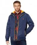 Короткий пуховик с капюшоном и мехом купить, демисезонная куртка U.S. Polo Assn, Сертолово