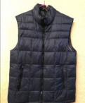 Утеплённый жилет, размер 46-48, свитер с воротником лодочка, Тихвин