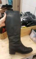 Сапоги кожа, зимняя обувь под прямые брюки, Новое Девяткино