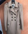 Пальто с мехом тренд, пальто Burberry. Оригинал. Размер 4UK на наш 40(XS, Щеглово