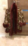 Жакет с мехом, джинсовая куртка с мехом, Горбунки